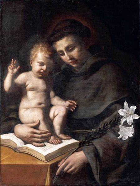 Saint Anthony de Padua by Il Guercino