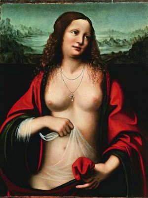 Renaissance, possibly Leonardo Da Vinci's, interpretation of Mary Magdalene